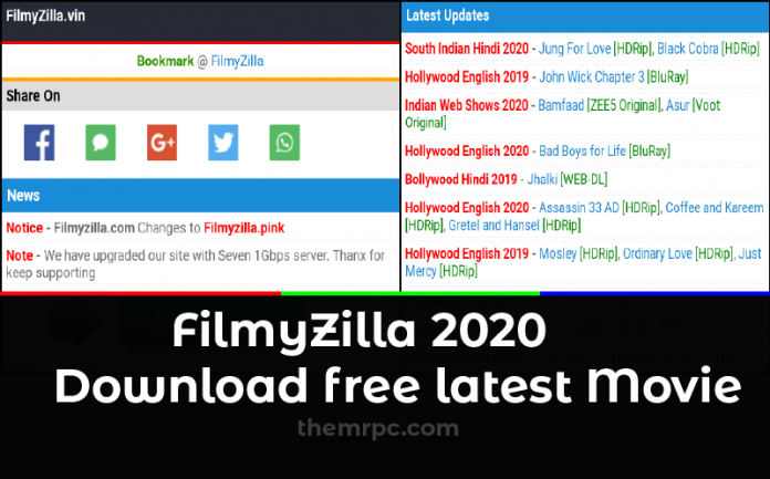 Filmyzilla Website 2020 Download Latest Hollywood Bollywood Hindi Dubbed Movies Free