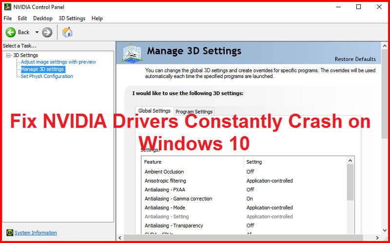 fix Nvidia driver crash