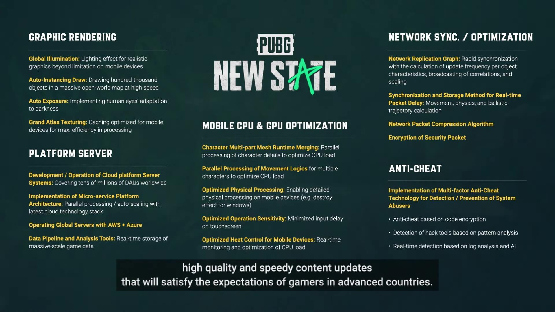 Pubg New State Technical Features